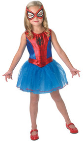 Girls Spidergirl Fancy Dress Costume