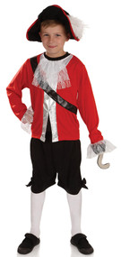 Boys Pirate Captain Fancy Dress Costume