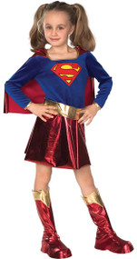 Girls Deluxe Supergirl Fancy Dress Costume