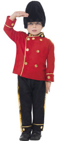 Boys Busby Guard Fancy Dress Costume