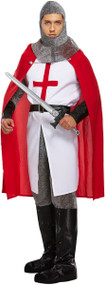Mens Knight Fancy Dress Costume