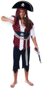 Mens Pirate Fancy Dress Costume 3