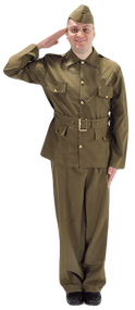 Mens British WW2 Army Fancy Dress Costume