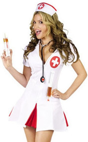 Ladies Sexy Nurse Fancy Dress Costume