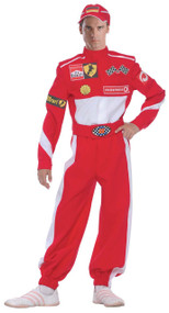 Mens Racing Driver Fancy Dress Costume
