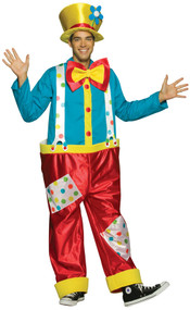 Mens Clown Fancy Dress Costume 2