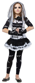 Girls Monster Bride Fancy Dress Costume