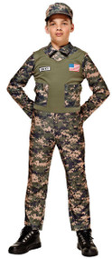 Boys US Army Fancy Dress Costume