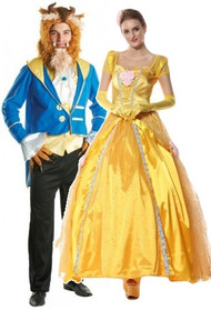 Couples Princess and the Beast Fancy Dress Costumes