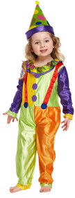 Child's Clown Fancy Dress Costume