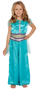 Girls Arabian Princess Fancy Dress Costume 2