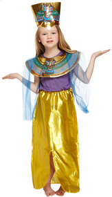 Girls Queen of the Nile Fancy Dress Costume