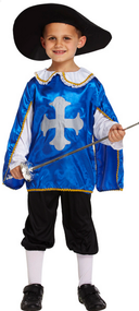 Boys Musketeer Fancy Dress Costume 2