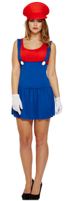Ladies Mario Fancy Dress Costume 4