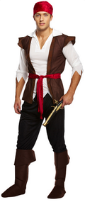 Mens Pirate Fancy Dress Costume 4