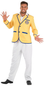 Mens 1980s Holiday Camp Fancy Dress Costume