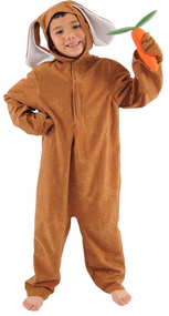 Child's Brown Rabbit Fancy Dress Costume