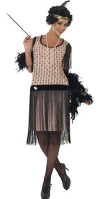 Ladies Coco Flapper Fancy Dress Costume