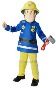 Boys Fireman Sam Fancy Dress Costume