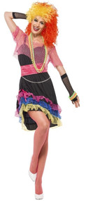 Ladies Neon 1980s  Fancy Dress Costume