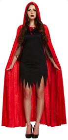 Adult Red Velvet Long Cape