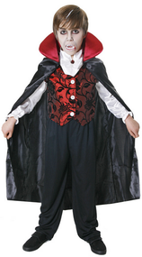 Boys Deluxe Vampire Fancy Dress Costume