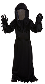 Boys Black Death Ninja Fancy Dress Costume