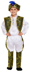 Boys Indian Prince Fancy Dress Costume