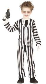 Boys Crazy Ghost Fancy Dress Costume