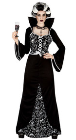 Ladies Royal Vampire Fancy Dress Costume