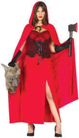Ladies Sexy Wolf Hunter Fancy Dress Costume