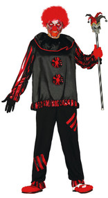 Mens Killer Clown Fancy Dress Costume