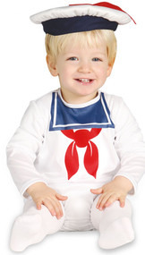 Baby Boys White Sailor Fancy Dress Costume