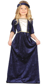 Girls Purple Renaissance Princess Fancy Dress Costume