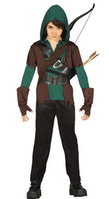 Boys Medieval Archer Fancy Dress Costume