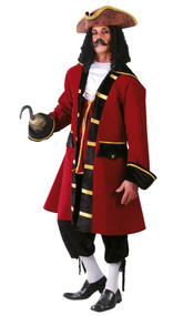 Mens Pirate Captain Fancy Dress Costume