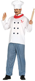 Mens Chef Fancy Dress Costume
