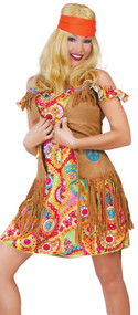Ladies 1960s Hippy Fancy Dress Costume