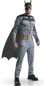 Mens Arkham Batman Fancy Dress Costume