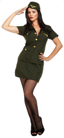 Ladies Army Combat Fancy Dress Costume