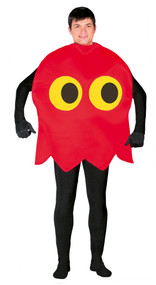 Mens Red Computer Ghost Fancy Dress Costume