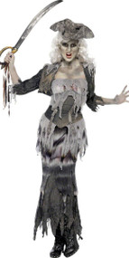 Ladies Ghost Ship Pirate Fancy Dress Costume