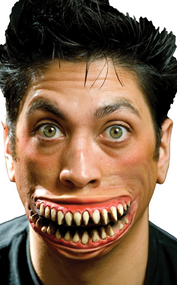 Adult Crazy Grin Halloween Special Effect