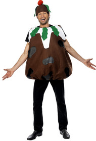 Mens Christmas Pudding Fancy Dress Costume