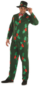 Mens Christmas Holly Suit Fancy Dress Costume