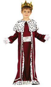 Boys Red King Fancy Dress Costume