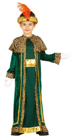 Boys Green King Fancy Dress Costume
