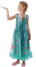 Girls Elsa Frozen Fever Fancy Dress Costume