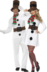 Couples Snowman Fancy Dress Costumes
