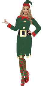 Ladies Little Elf  Fancy Dress costume